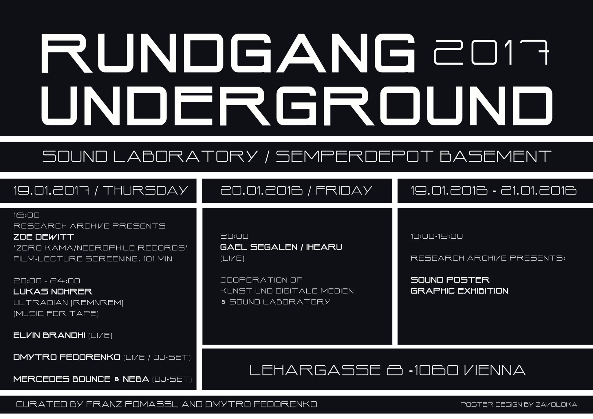 Rundgand Underground Vienna 2017 GS