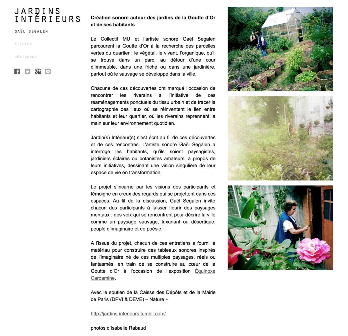 Jardin Interieur atelier Mu GSegalen